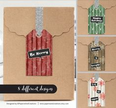 Christmas Tags Printable - Gift Tags - Rustic - Wood - Instant download