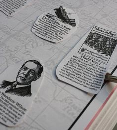 World War 1 notebooking pages