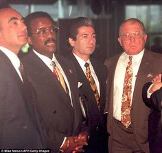 "The 'Dream Team"" (1995). Robert Shapiro, Johnny Cochran, Robert Kardashian and F. Lee Bailey."