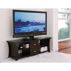 Furniture of America Danbury Modern 2-drawer Cappaccino TV Console | Overstock.com Shopping - Great Deals on Furniture of America Entertainm...