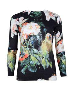 a9ab7939f9562 Opulent Bloom printed sweater - Black