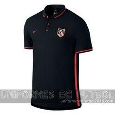 Venta de Camisetas polo negro Atletico de Madrid 2015-16