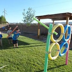 Giant Ring Toss and Pool Noodle Target Throwing | 27 Insanely Fun Outdoor Games You'll Want To Play All Summer Long