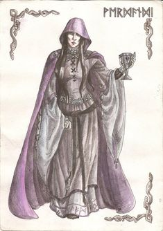 "Norse mythology Verdandi.  From the Old Norse Verðandi meaning ""becoming, happening"". Verdandi was one of the three Norns, or goddesses of destiny, in Norse mythology. She was responsible for the present."