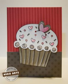 images hero arts hello   ... heroarts com cardmaking home card galleries messages hello cupcake