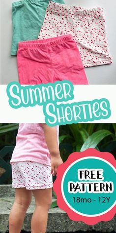 learn how to make short leggings to wear under dresses or just as shorts. Easy free sewing pattern for summer short leggings. Sewing Patterns Free, Free Sewing, Sewing Tutorials, Clothing Patterns, Free Pattern, Knitting Patterns, Sewing Projects, Knitting Projects, Kids Clothes Patterns