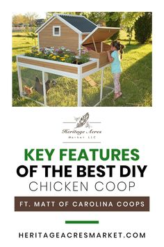 Join Nicole and Matt of Carolina Coops as they discuss how to build the best DIY chicken coop, prevention against predators, and the deep litter method. WHAT YOU'LL LEARN How big to build a coop, run, nest boxes, and roosts Features of an ideal coop Preventing predators Prefab coops What is the deep litter method #homesteading #backyard #backyardfarm #hobbyfarm #farm #farmlife #chickens #eggs #egg #DIY Backyard Bounty Podcast  Chickens, Guineas, Poultry & Fowl