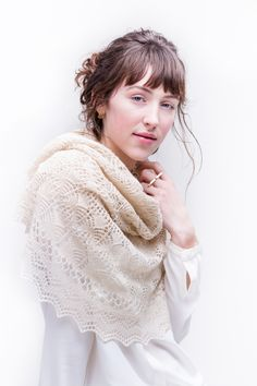 The ethereal geometry of this heirloom pi shawl conjures stars wheeling overhead… Knit Cowl, Knitted Shawls, Crochet Shawl, Knit Crochet, Knitting Designs, Knitting Projects, Knitting Patterns, Crescent Shawl, Brooklyn Tweed