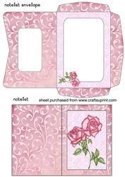 Pink Floral Notelet And Envelope Sheet 4