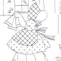 Little Susan Days-Of-The-Week Motifs {1950s} : TipNut.com