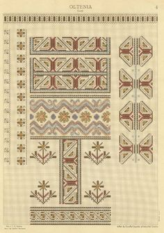 Folk Embroidery, Embroidery Patterns, Cross Stitch Borders, Cross Stitch Patterns, Brick Stitch, Folk Art, Pattern Design, Bohemian Rug, Diy And Crafts