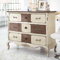 paint treatment on dresser - so unique!