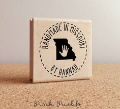 Personalized Handmade in Your State Stamp - Customize Text and State