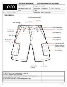 f8576690d1c1 garment tech pack samples - Google Search Garment Manufacturing
