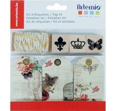 Kit d'étiquettes 'Artemio' Voyage