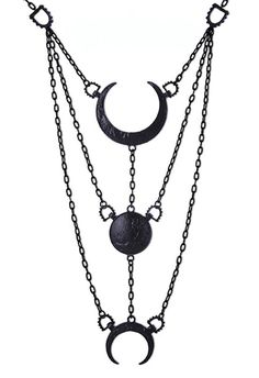 "7f8d04cbc26 pastelgothdotcom  "" Black Moon Phases Pendant Necklace "" Gothic Jewelry"