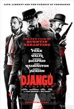 Póster final USA de 'Django desencadenado' de Quentin Tarantino, con sabor a Sergio Leone. Estreno en España el 25 de Enero de 2013
