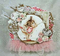 Ever So Sweet Is This Adorable Shabby Chic Card By Gretha Bakker From The Ribbon Girl Blog: May Everything Goes With An Image Challenge. A Ballerina Surrounded By Layers Of Luscious Lace, Roses, Doilies To Name A Few Of The Lovely Shabby Delicious Items.