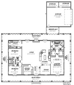 Country House Plan 74602 Level One