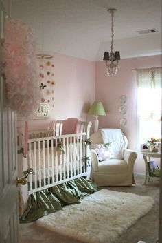 pink and green girl nursery - Google Search