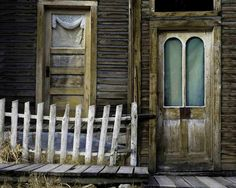 An old porch in the historic Ghost Town St. Elmo, Colorado.
