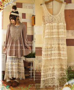 Lace dress mori girl