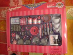 1998 Barbie Cooking Magic Cookware Set New in Box RARE   eBay