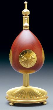 "(3) FABERGE eggs__Theo Faberge__"" Sunburst Egg by Theo Faberge"