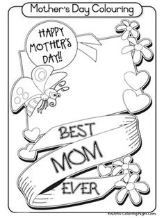 Mothers Day Coloring Sheets Printable For Kids
