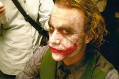 """This is a never before seen photo of Heath Ledger's last day of shooting """"The Dark Knight"""". We lost him way too early."""