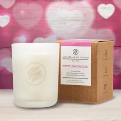 Delicate petals of white jasmine, lavender, and magnolia blossoms bring the scent of romance into your home on VALENTINES DAY!