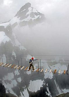 Sky walking in Mt.Nimbus Canada