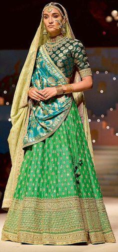 A Sabyasachi creation Desi Wedding Dresses, Indian Wedding Outfits, Indian Outfits, Indian Bridal Fashion, Indian Bridal Wear, Choli Designs, Lehenga Designs, India Fashion Week, Tokyo Fashion