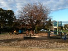 A lovely little suburban park and playground with sports field and plenty of equipment, located in leafy Ashburton: heaps of room for two and four legged creatures to play! #kids #outdoor
