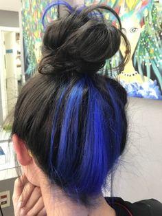 Under Hair Dye, Under Hair Color, Hidden Hair Color, Hair Color Underneath, Hair Color For Black Hair, Cool Hair Color, Blue Hair, Hair Color Streaks, Hair Dye Colors