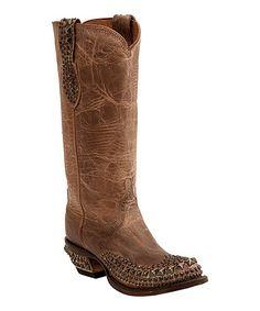 Look at this #zulilyfind! Pearl Stud Mad Dog Leather Western Boot - Women #zulilyfinds