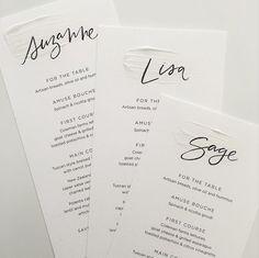 Name menus