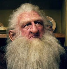Balin from the Hobbit.  The beard/wig are awesome, i really like the hair line on the beard, also how it is a little higher at the smile line (sort of follows). and the volume on the chin really accentuates the beard.