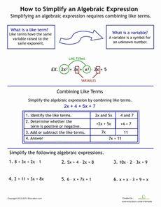 "FREE MATH LESSON - ""Simplifying Algebraic Expressions Task Card ..."