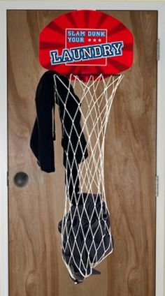 Dunk Your Laundry Basketball Hoop Hamper, $13.99