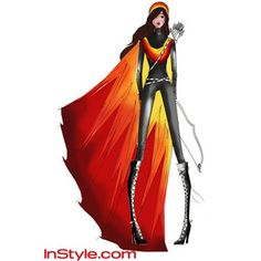 katniss: the girl who was on fire. - Charlotte Ronson's floor-length fire cape Katniss Costume, Hunger Games Costume, Hunger Games Movies, Charlotte Ronson, Katniss Everdeen, Movie Costumes, Christian Siriano, Costume Design, Celebrity Style