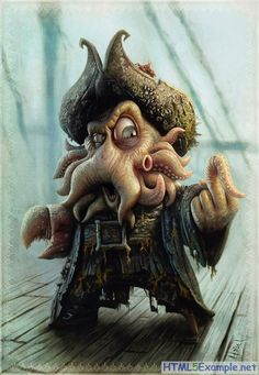Davy Jones Character Illustration