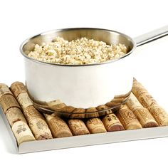 Leftover wine corks can be turned into coaster for resting your hot pots and pans.