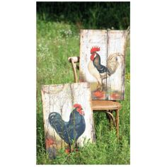 Wooden rooster panels