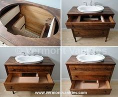 vessel sink recessed into cabinet - Google Search