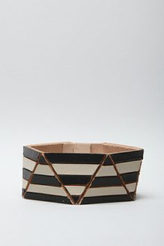 Lauren Manoogian - Optical Cuff - Black & Ecru