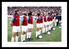 West Ham United 1975 FA Cup Final Team Photo