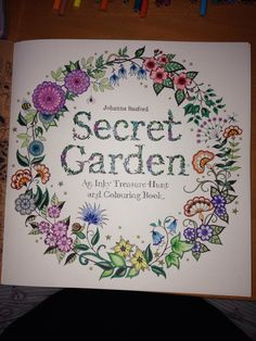 My Completed Title Page Crayola Pencils Whsmith Fineliners Metallic And Glitter Gel Pens On The Secret Garden Wording