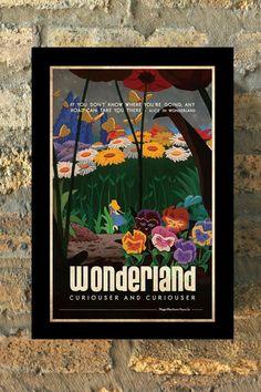 Als u niet waar je naartoe gaat weet, kan elke weg je meenemen! Fantastisch, vintage stijl Alice In Wonderland geïnspireerd reizen poster. Wordt geleverd met uit handtekening. Als u ik dat wilt te ondertekenen voor mijn werk, message me bij de kassa.  DETAILS AFDRUKKEN: -Digitaal bedrukken van cover van 80lb -Includes grens zoals -Frame niet inbegrepen  VERZENDGEGEVENS: -11 x 17 afdrukken schip via USPS via kartonnen koker. -8,5 x 11 wordt schip via USPS via blijven plat envelop afgedrukt…