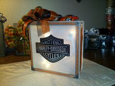 Hand crafted Harley light block!